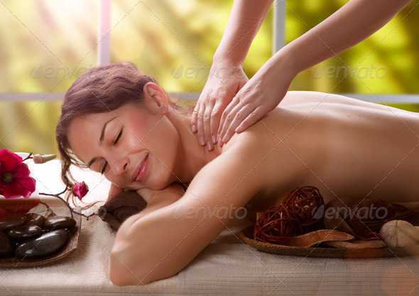 Massage. Spa Salon - Stock Photo - Images
