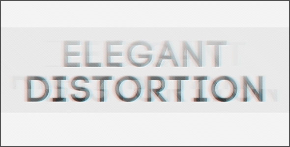 VideoHive Elegant Distortion 3308087
