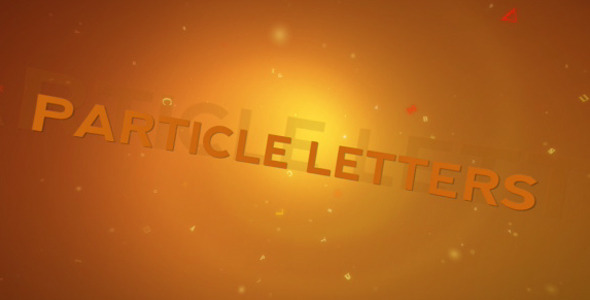After Effects Project - VideoHive Particle Letters 347667