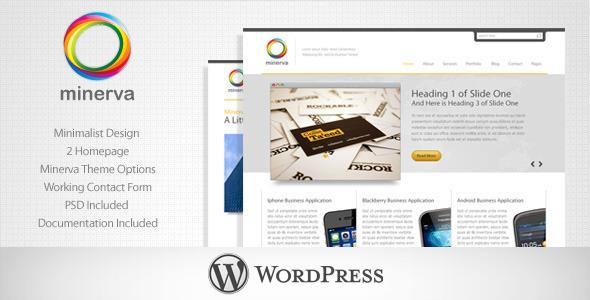 ThemeForest Minerva Minimalist Business WordPress Theme 235024
