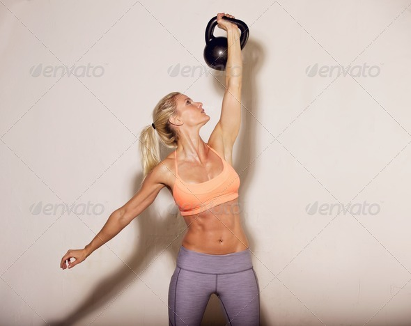 PhotoDune Kettlebell Crossfit Workout 3323963