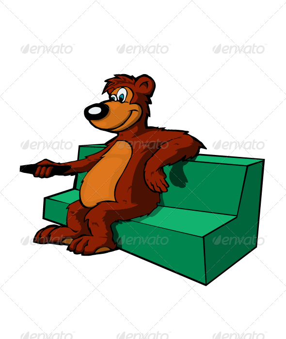 GraphicRiver Bear on couch 3323822
