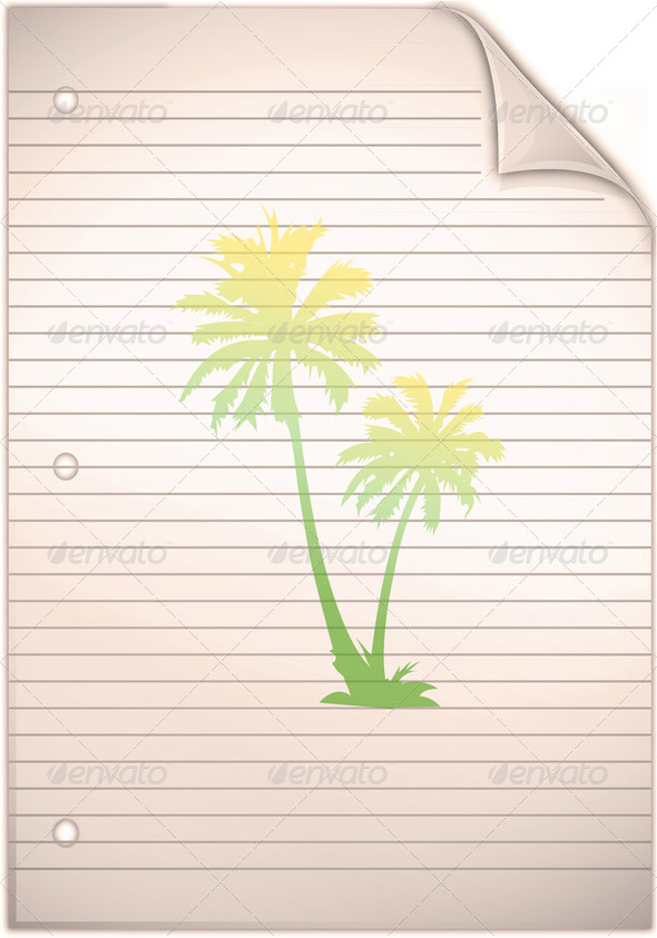 lined note paper background - Stock Photo - Images