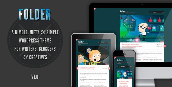 ThemeForest Folder Wordpress Blog Theme 3324028