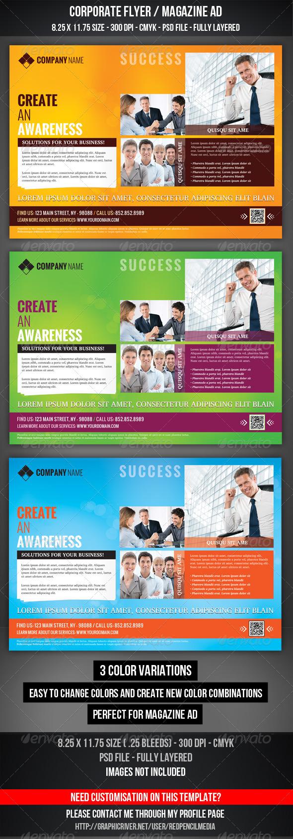 GraphicRiver Corporate Flyer Magazine AD 3324045