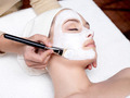 cosmetician applying facial mask on female face - PhotoDune Item for Sale