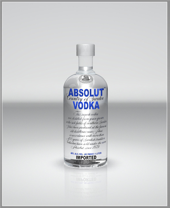 Realistic Vodka Bottle - 3DOcean Item for Sale