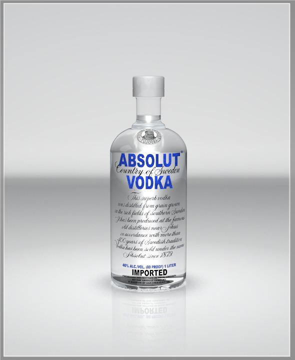 3DOcean Realistic Vodka Bottle 3325172