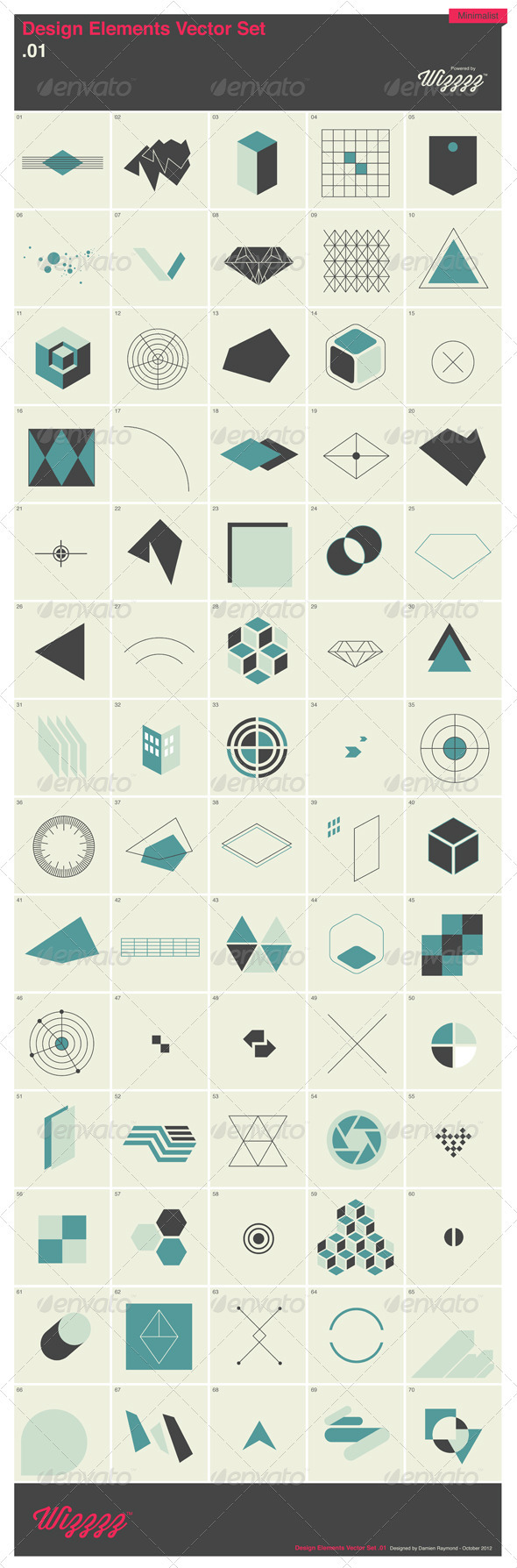 GraphicRiver 70 Design Elements Vector Set .1 3325484