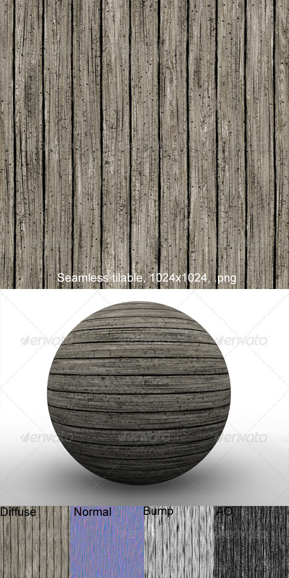 3DOcean Rough Planks 3 2874280