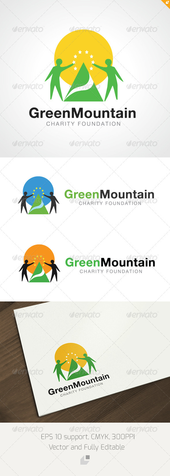 GraphicRiver Geren Mountain Charity Foundation Logo 3307940