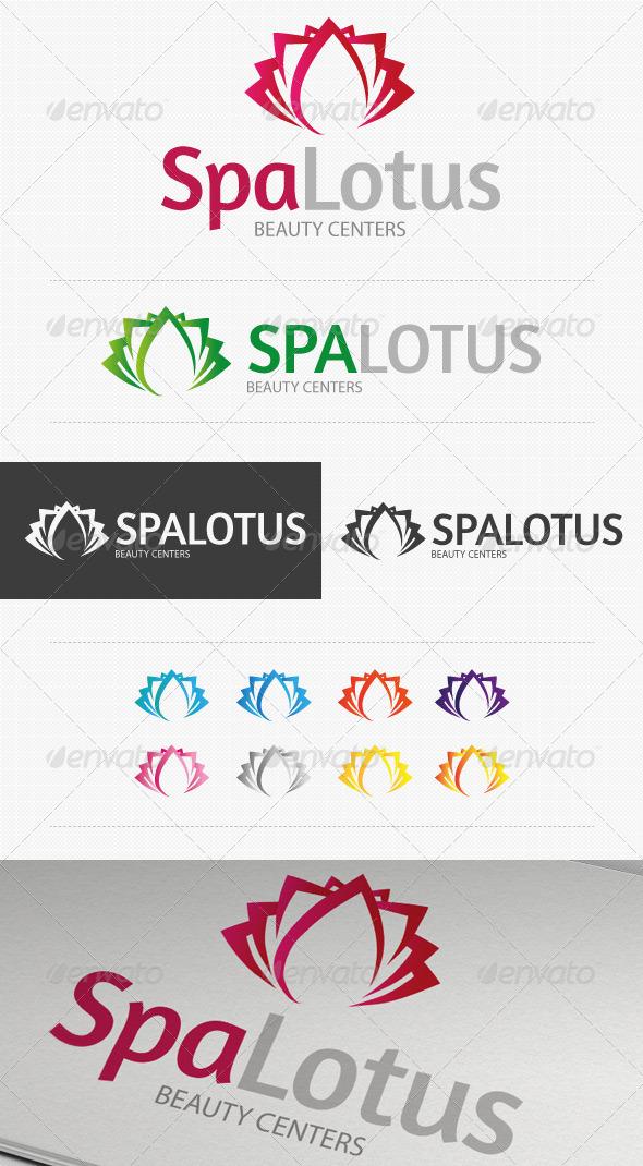 GraphicRiver Spa Lotus Beauty Center Logo 3325795