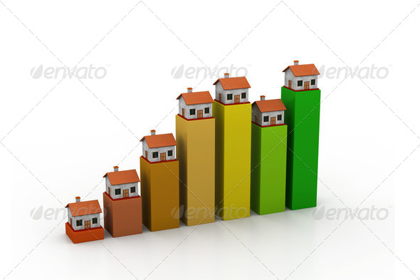 Graph of home sale - Stock Photo - Images
