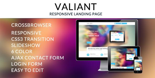 Valiant Responsive Landing Page