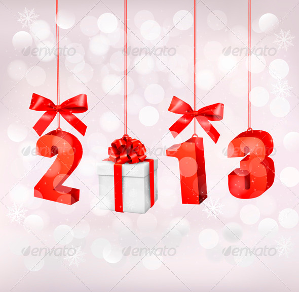 GraphicRiver Happy new year 2013 New year design template 3325994