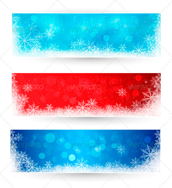 GraphicRiver Set of winter christmas banners 3325995