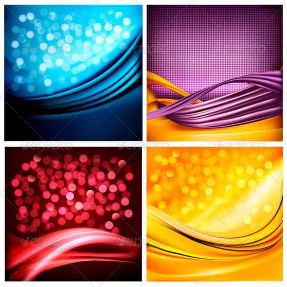 GraphicRiver Set of business elegant colorful abstract backgrou 3326012
