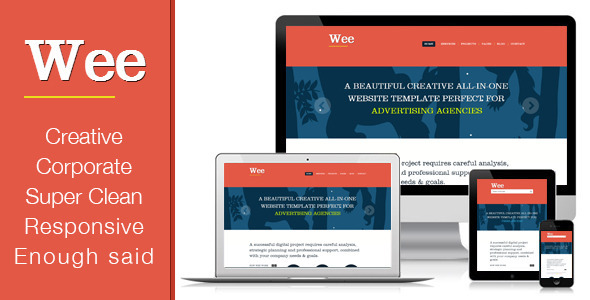 ThemeForest Responsive Business Portfolio Template Wee 3308113