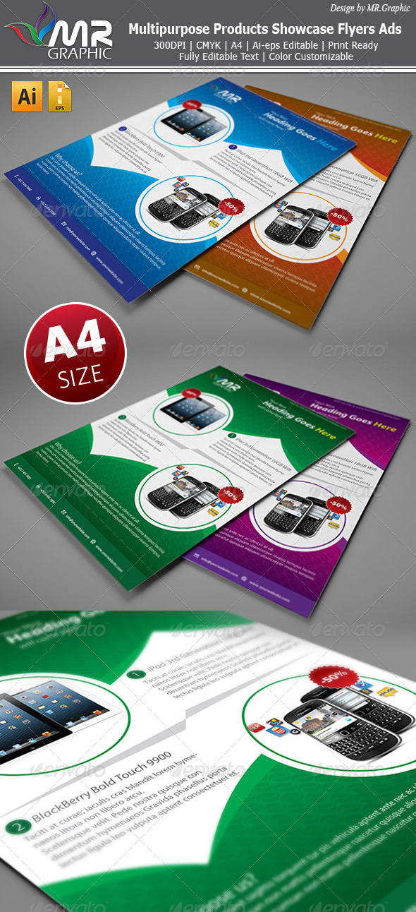 GraphicRiver Multipurpose Products Showcase Flyer 3300388