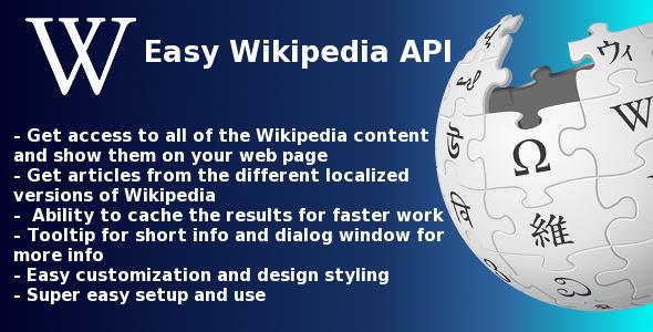 CodeCanyon Easy Wikipedia API script 3243352