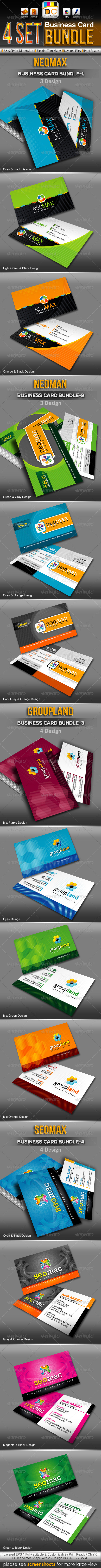 GraphicRiver Corporate Business Card Mega Bundle Pack 3297831