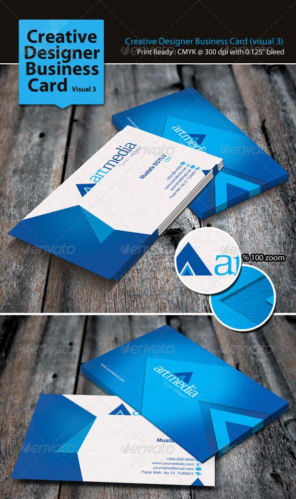 GraphicRiver Creative Designer Business Card Visual 3 3310116