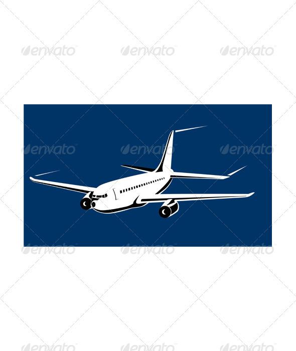 GraphicRiver Commercial Jet Plane Airline Ret 3326834