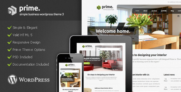 Prime - Simple Business Wordpress Theme 3