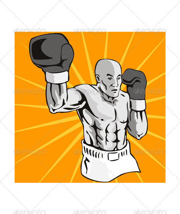 GraphicRiver Boxer Boxing Knockout Punch Retr 3327033
