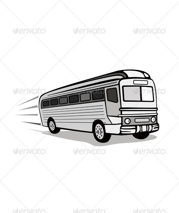 GraphicRiver Shuttle Coach Bus Retro 3327079