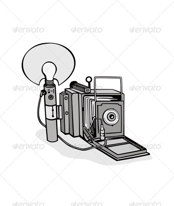 GraphicRiver Vintage Camera Flash Bulb 3327106