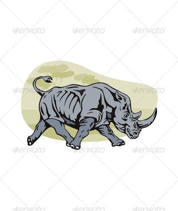 GraphicRiver Rhinoceros 3327160