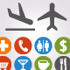 Icons and pointers for navigation in airport - GraphicRiver Item for Sale