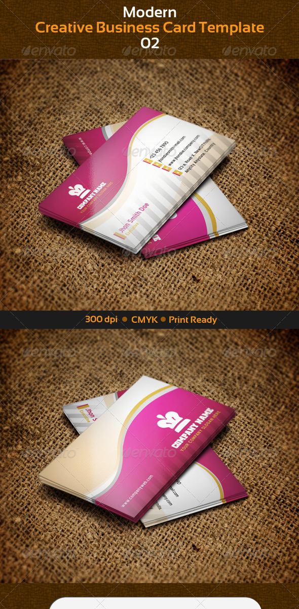 GraphicRiver Modern Creative Business Card Series 02 3021391