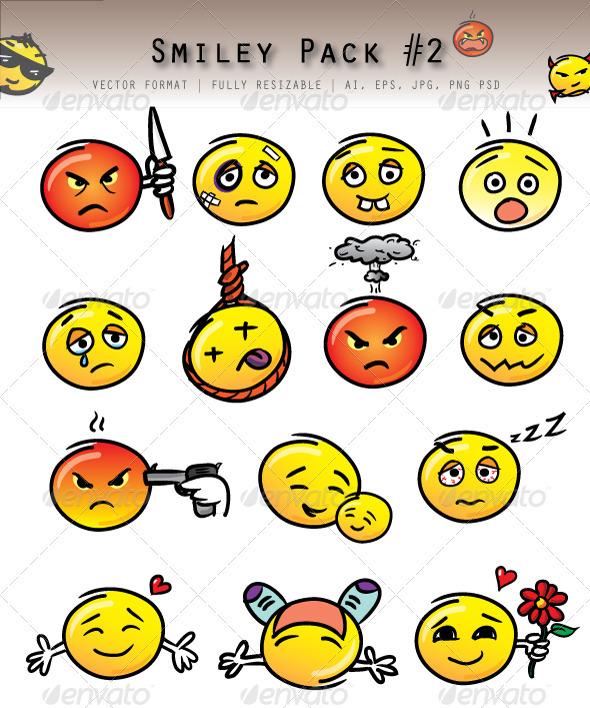 GraphicRiver Emoticon Pack #2 3325758