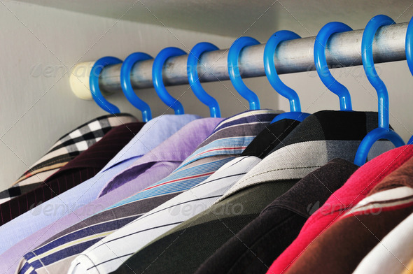 shirts that are hanging - Stock Photo - Images