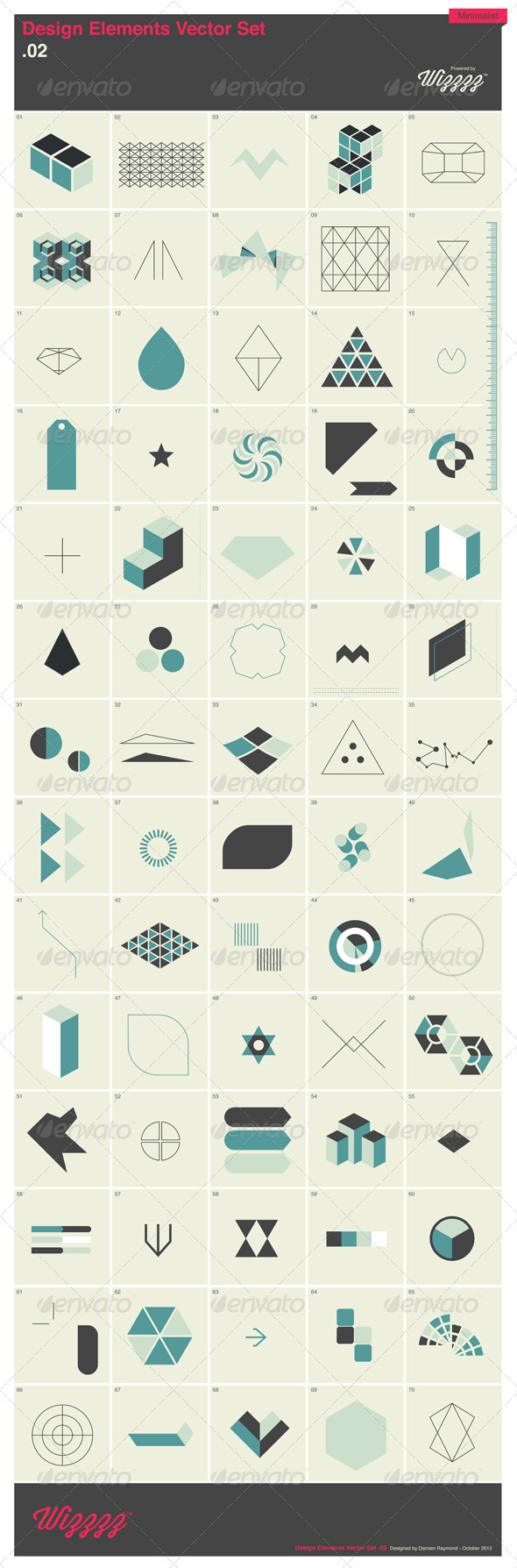 GraphicRiver 70 Design Elements Vector Set 2 3327554