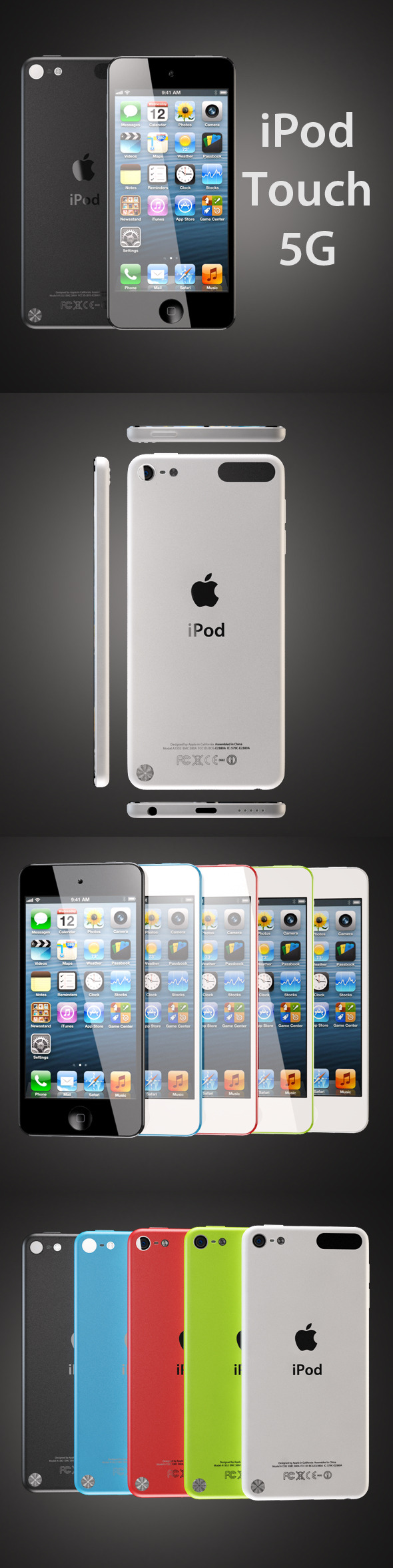 3DOcean iPod touch 5G 3327566