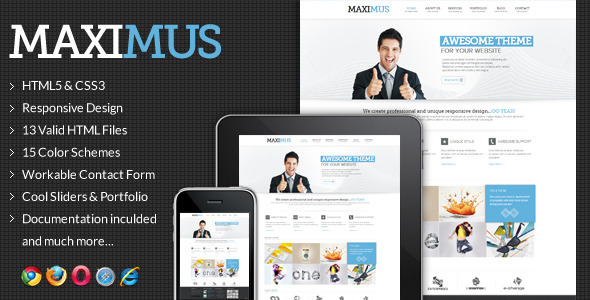 ThemeForest Maximus Responsive Multi-Purpose Website Templat 3277455
