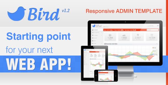 Bird - Responsive Web App & Admin Template