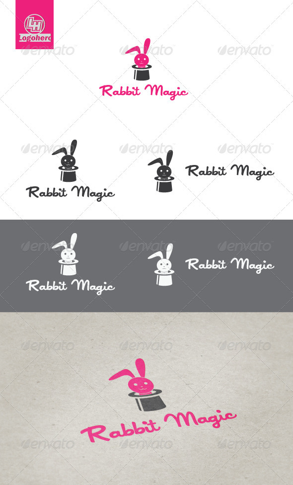 Rabbit Magic Logo Template