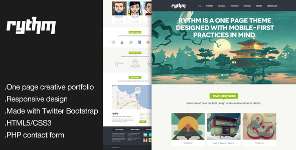 Rythm - One Page Responsive HTML5 Template - Portfolio Creative
