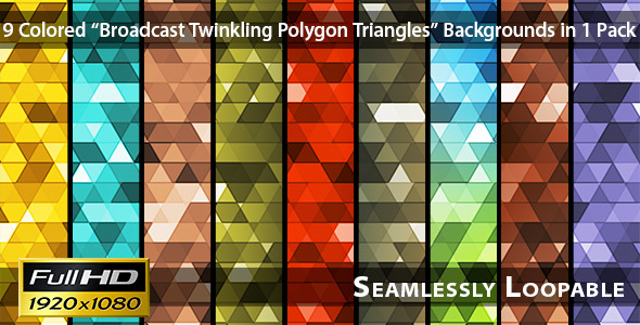 VideoHive Broadcast Twinkling Polygon Triangles Pack 02 3327646