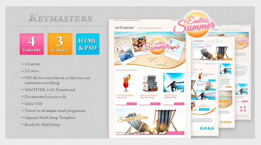 summerBlast - email template
