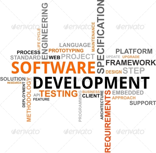 PhotoDune word cloud software development 3333036
