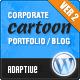 Мультфильм : Отзывчивый Портфолио / Блог / Корпоративный Тема - Творческая WordPress