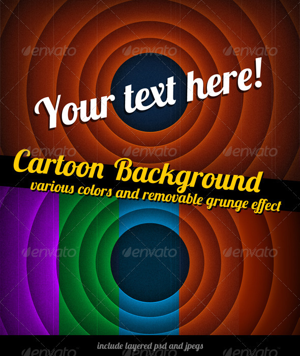 GraphicRiver Cartoon The End Background 3328126