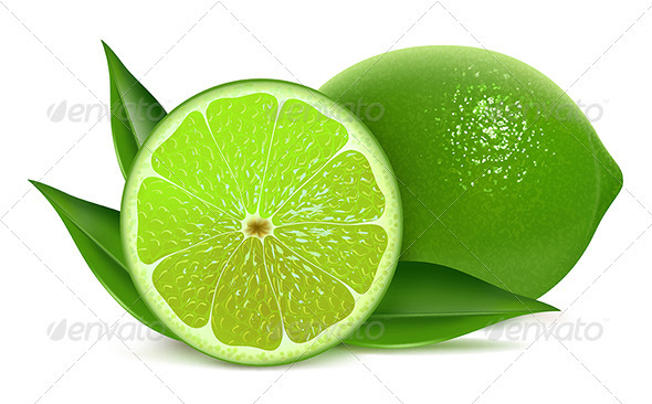 Fresh limes - Food Objects