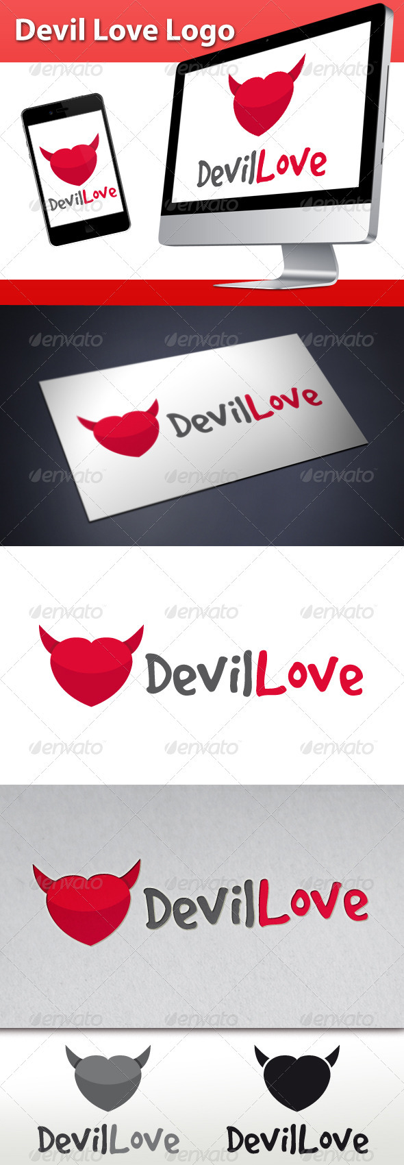GraphicRiver Devil Love Logo 3324000
