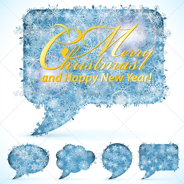 GraphicRiver Christmas Speech Bubbles 3329395